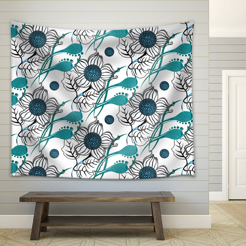 Amazon Com Wall26 Vector Repeating Modern Floral Background