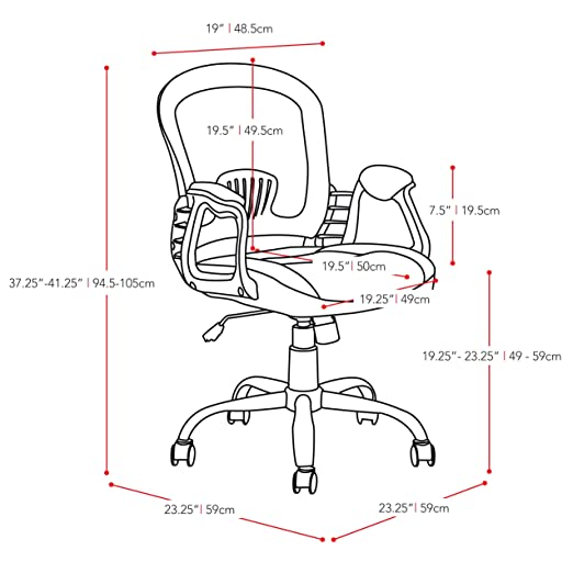 Amazon Com Corliving Lof 238 O Workspace Office Chair Blackgrey
