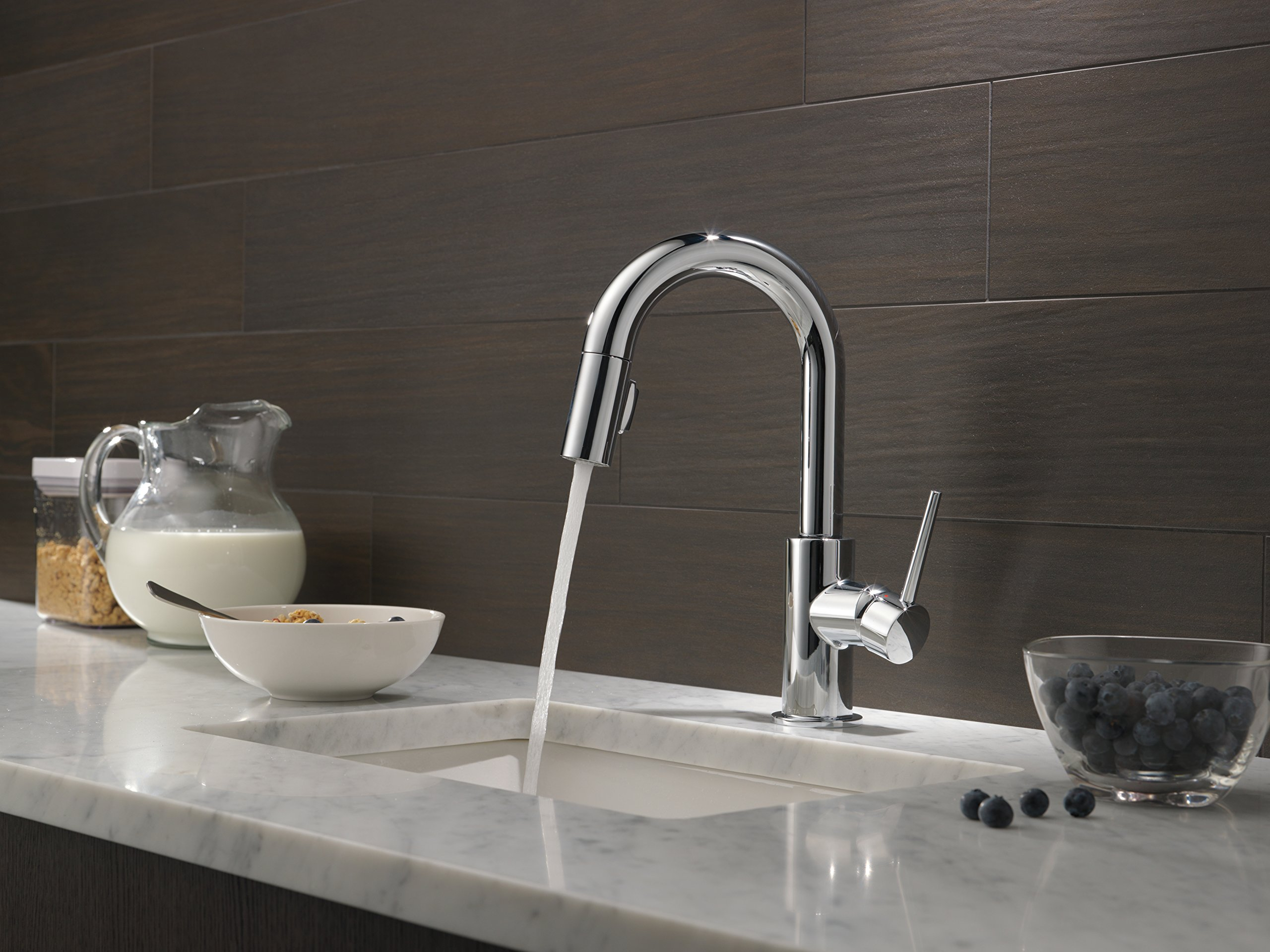 Delta Faucet 9959-DST Trinsic Single Handle Bar/Prep Faucet with ...