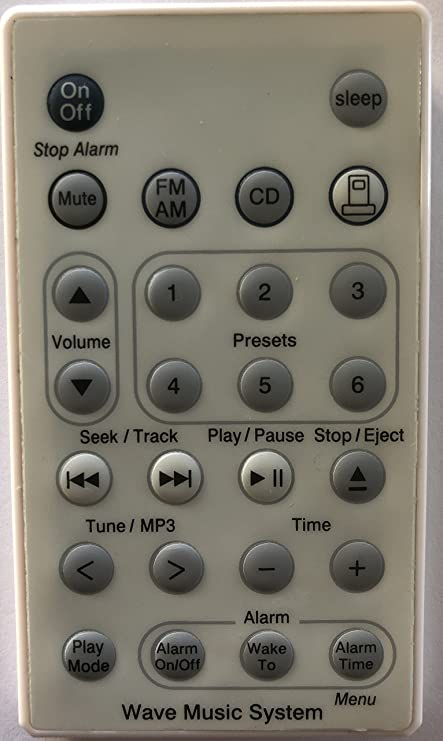 Amazon com: New Replaced Bose Wave Music System Remote