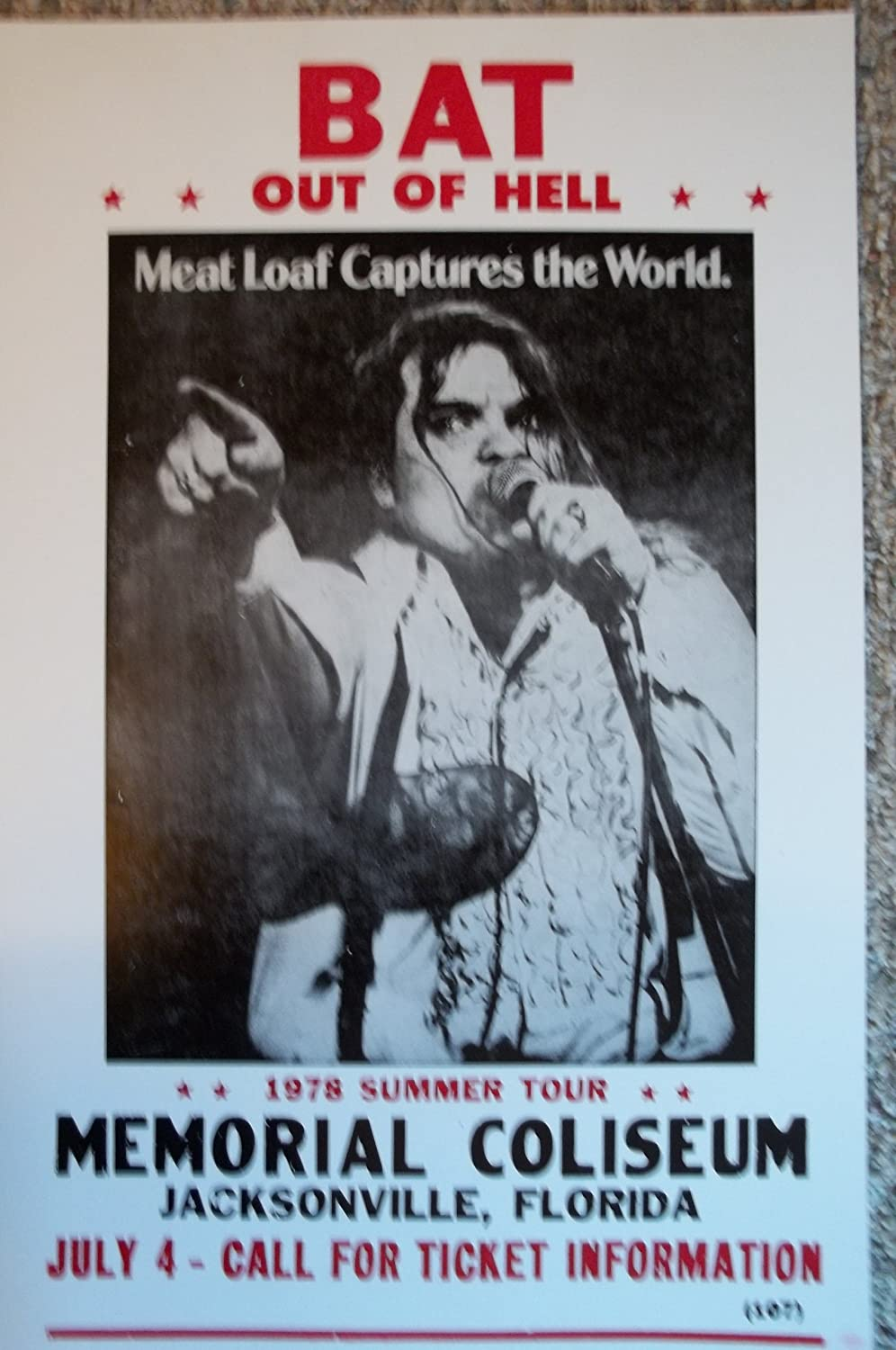 Meat Loaf Meatloaf 11X17 Bat out of Hell Art Poster