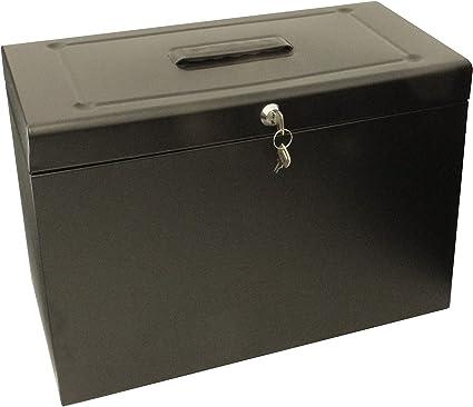 Cathedral HOBK - Caja archivadora para carpetas colgantes, negro: Amazon.es: Oficina y papelería