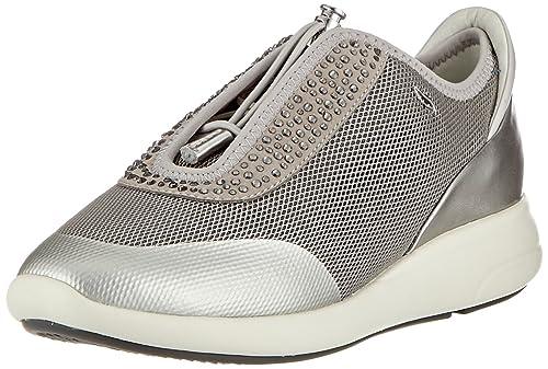 Geox D Ophira E, Zapatillas para Mujer, Gris (Lt Grey/Lt Silver C1l1n), 35 EU