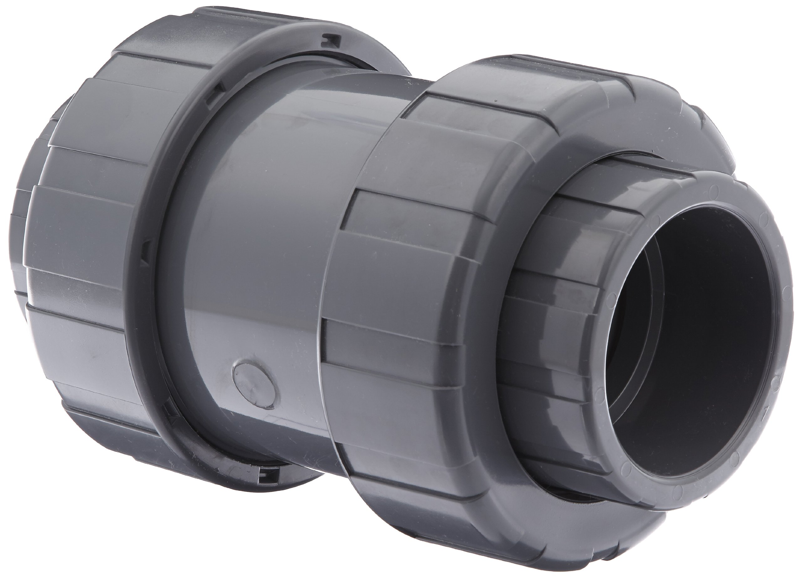 Hayward TC1300S Series TC True Union Ball Check Valve, Socket End, PVC with FPM Seals, 3'' Size by Hayward Flow Control (Image #1)