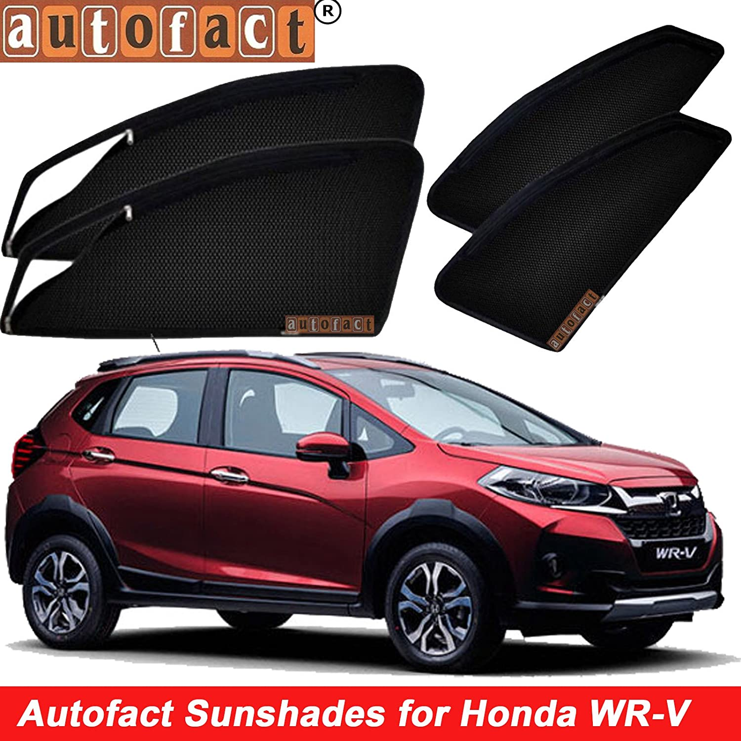 Autofact Magnetic Window Sunshadescurtains For Honda Wrv Set Of