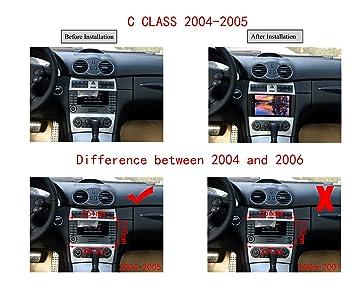 XISEDO Android 8.0 Autoradio In-Dash 8 Pulgadas Radio de Coche 8-Core RAM 4G ROM 32G Car Radio Estéreo Navegación de Automóvil para Mercedes-Benz C Class ...