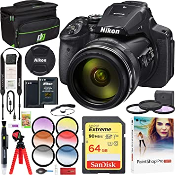 Amazon.com: Nikon COOLPIX P900 16MP 83x Super Zoom Cámara ...