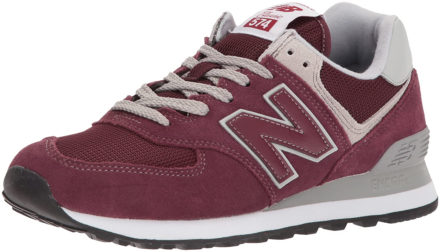 New Balance Women's Iconic 574 Sneaker B0725YG2VM 12 D US|Burgundy