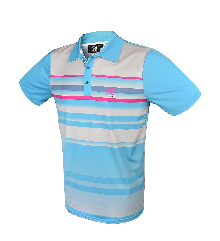 TONY TREVIS Golf Polo para Hombre beFresh Azul: Amazon.es ...