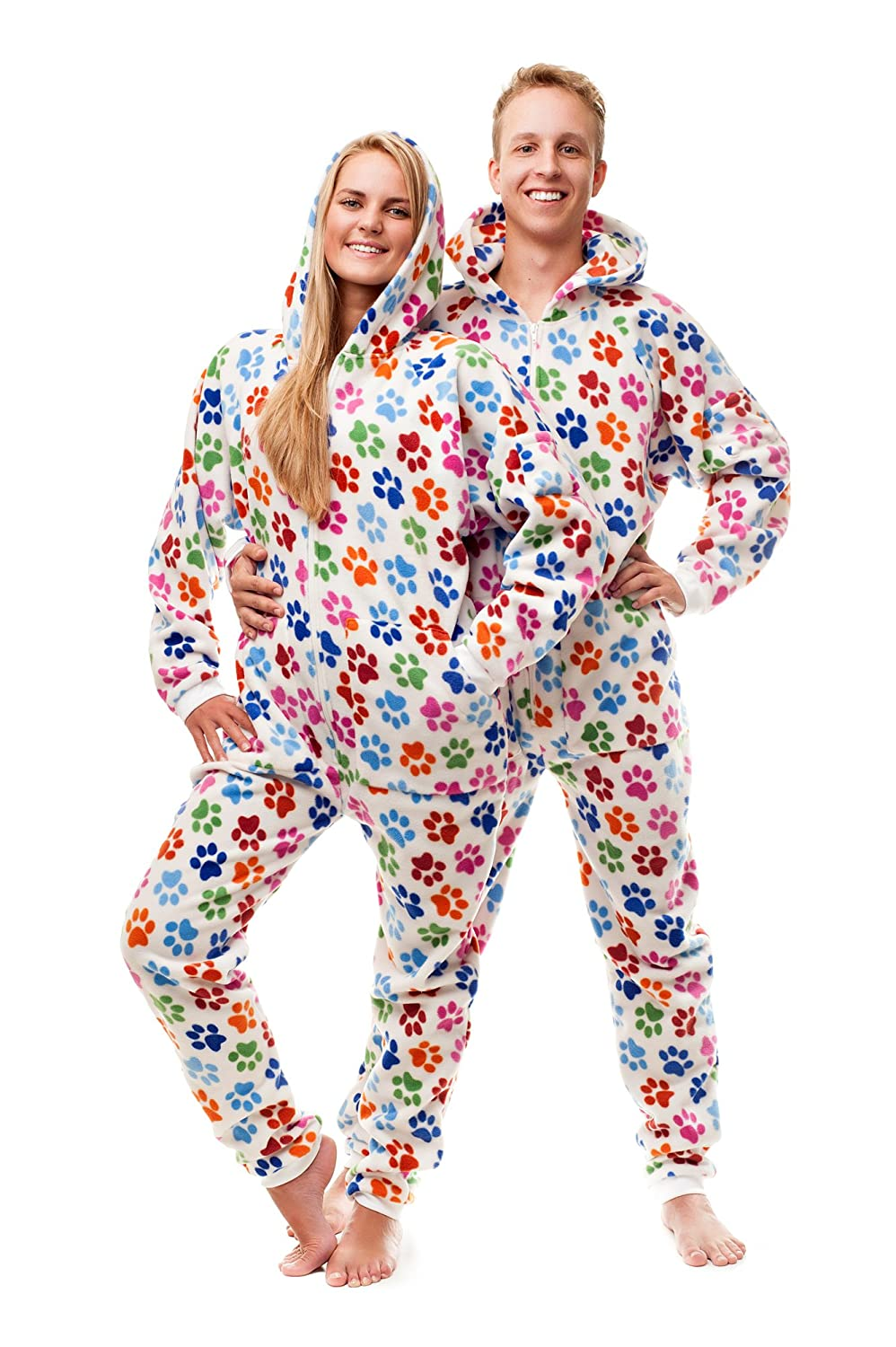 Amazon.com: Dog Pawz Go-Jamz: Adult Onesie Jumpsuit One Piece Pajamas by Kajamaz: Clothing