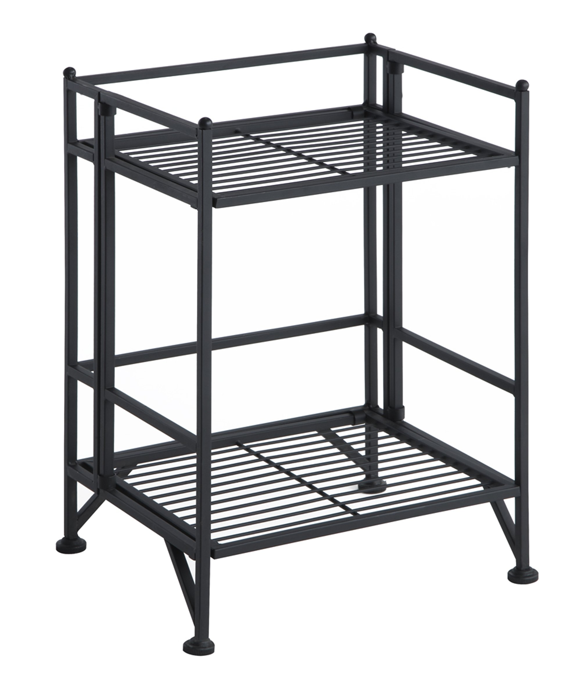 Convenience Concepts 8020B Designs2Go X-Tra Storage 2-Tier Folding Metal Shelf, Black by Convenience Concepts
