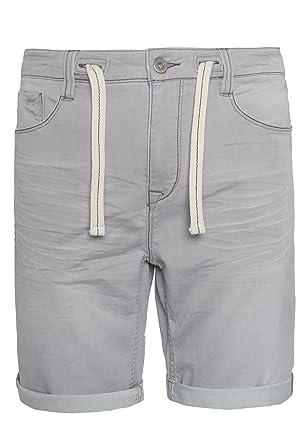 42a6385a6044 Sublevel Herren Sweat Jeans Bermuda mit Kordel   Shorts   Kurze Hose in  Denim-Optik  Amazon.de  Bekleidung