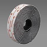 3M 355025BL 3550 Bande Velcro Noir 25,4 mm x 2,5 m