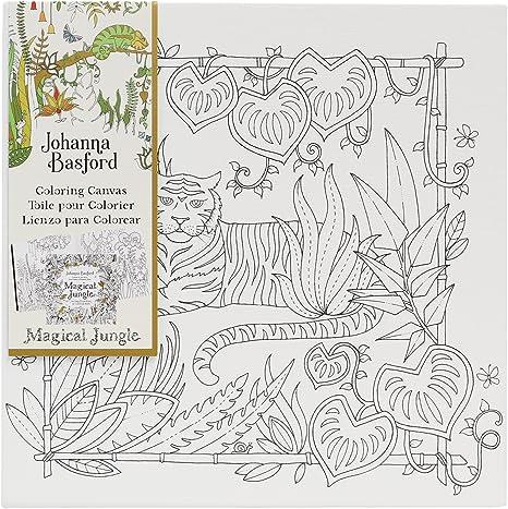 Amazon.com: Art Alternatives Johanna Basford Magical Jungle Coloring  Canvas-Tiger: Arts, Crafts & Sewing