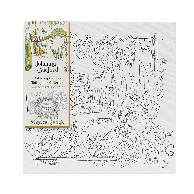 amazon com johanna basford magical jungle coloring canvas tiger