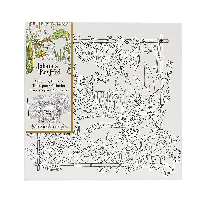 Amazon.com: Johanna Basford Magical Jungle Coloring Canvas - Tiger ...