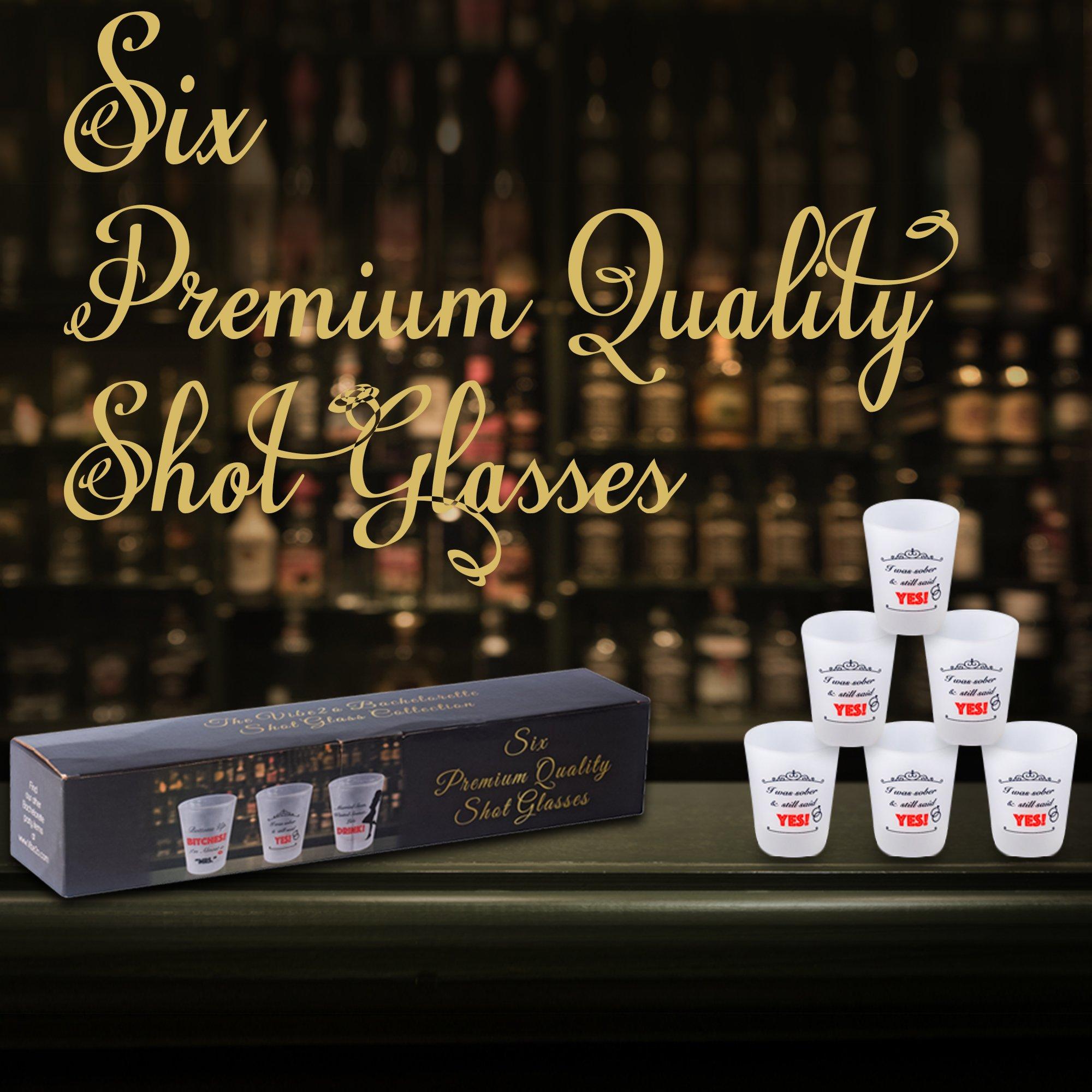 Bachelorette Party Favor Shot Glass 6 pack (I Was Sober)