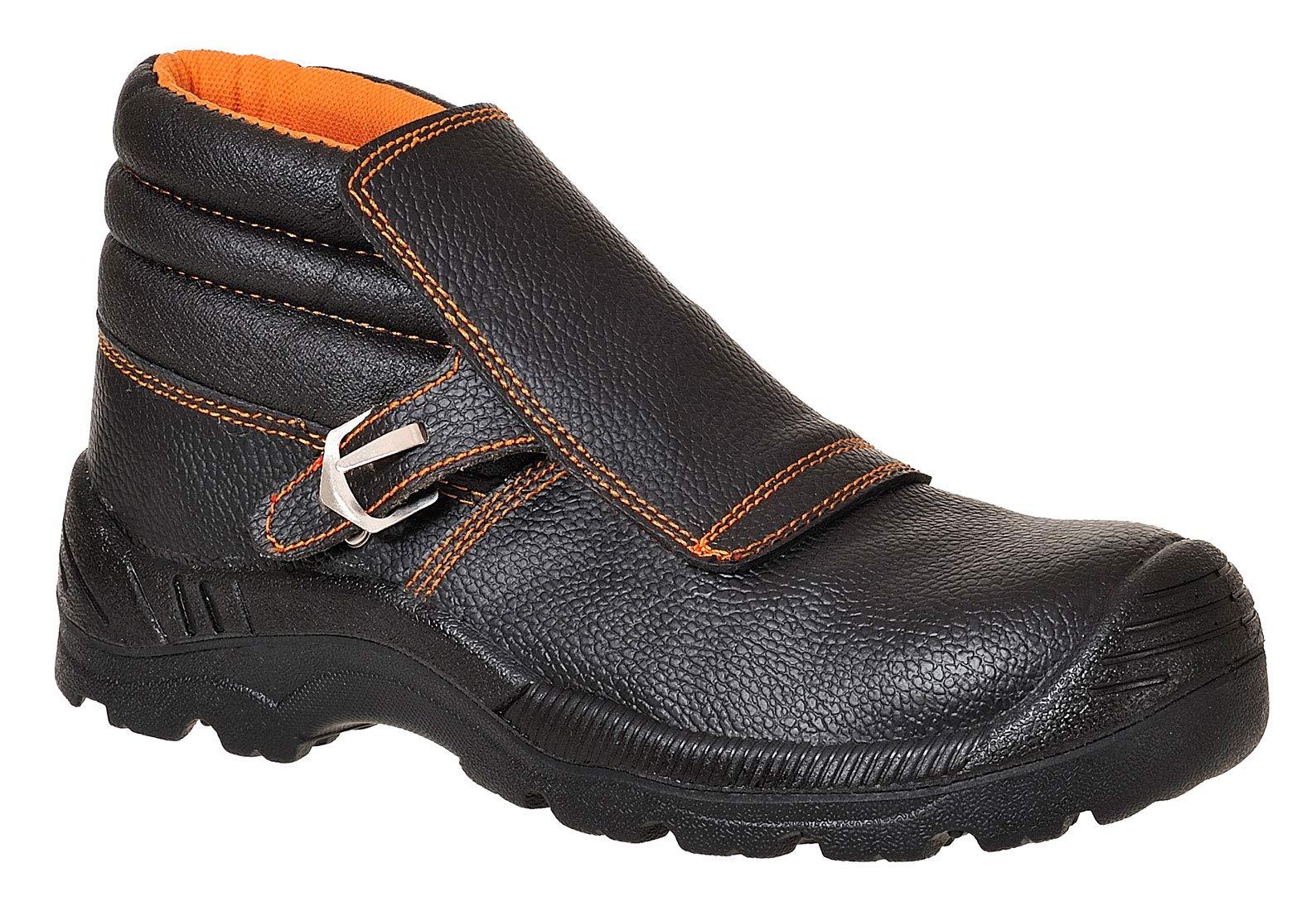 Portwest FW07BKR42 Compositelite Welders Boot, US Size 9 Split Leather, Black