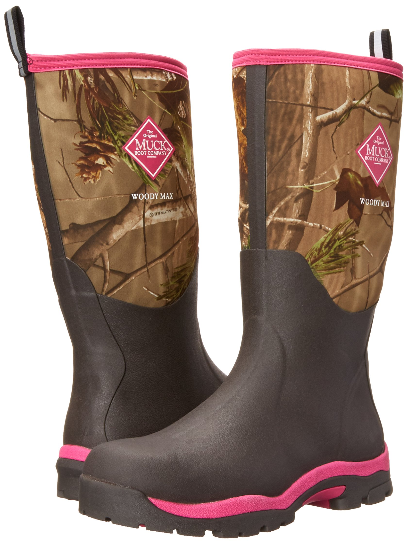 Muck Boot Womens Woody Pk Hunting Shoes, Bark/Realtree/Hot Pink, 8 US/8-8.5 M US by Muck Boot (Image #6)