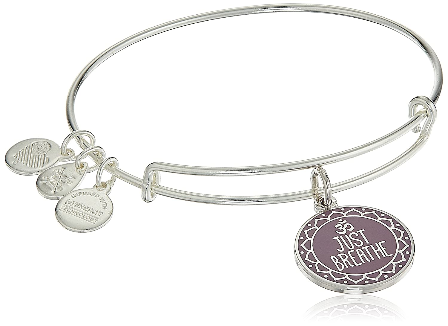 Alex and Ani Womens Words are Powerful Just Breathe Bangle Just Breathe Bangle Bracelet A17EBWAP05SS