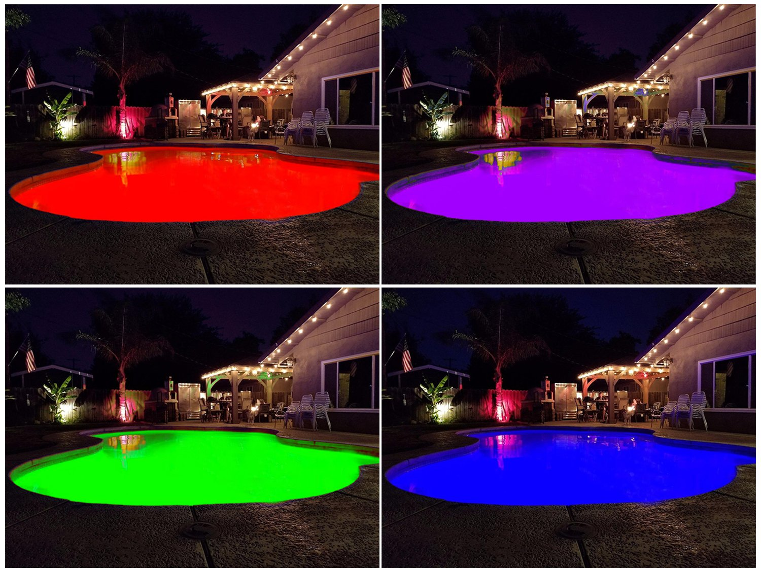 12V 35W Ac/Dc Color Changing Swimming Pool Lights geführt Bulb (Switch Control + Remote Control Type) Fits Light Fixture E26/E27