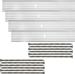 Dreamscape E-Z Edge Aluminum Landscape Edging - 4 Strips, 6ft Each (24ft Total), Mill Finish (Natural Aluminum) - Professional Quality Landscaping Border, Metal Divider for Lawn, Garden, Flowerbed