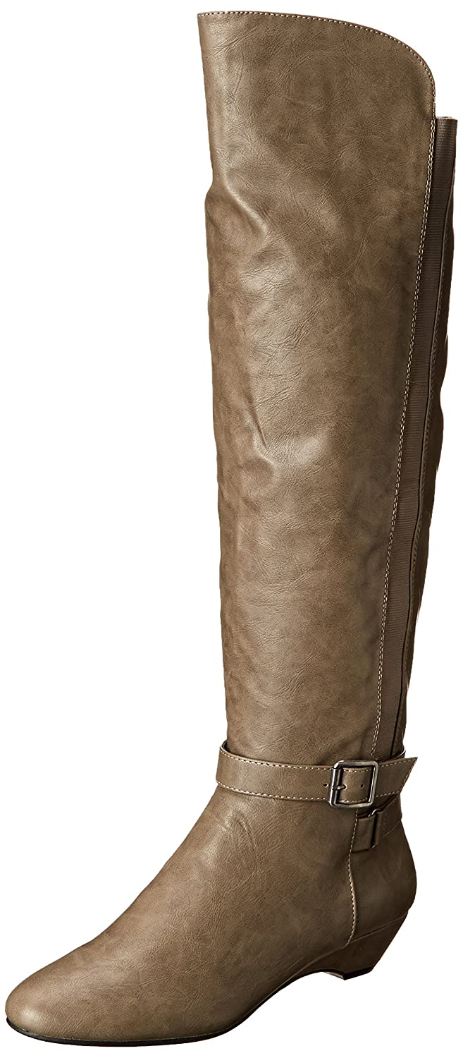 Women's Zilch Taupe Faux Leather Riding Boot