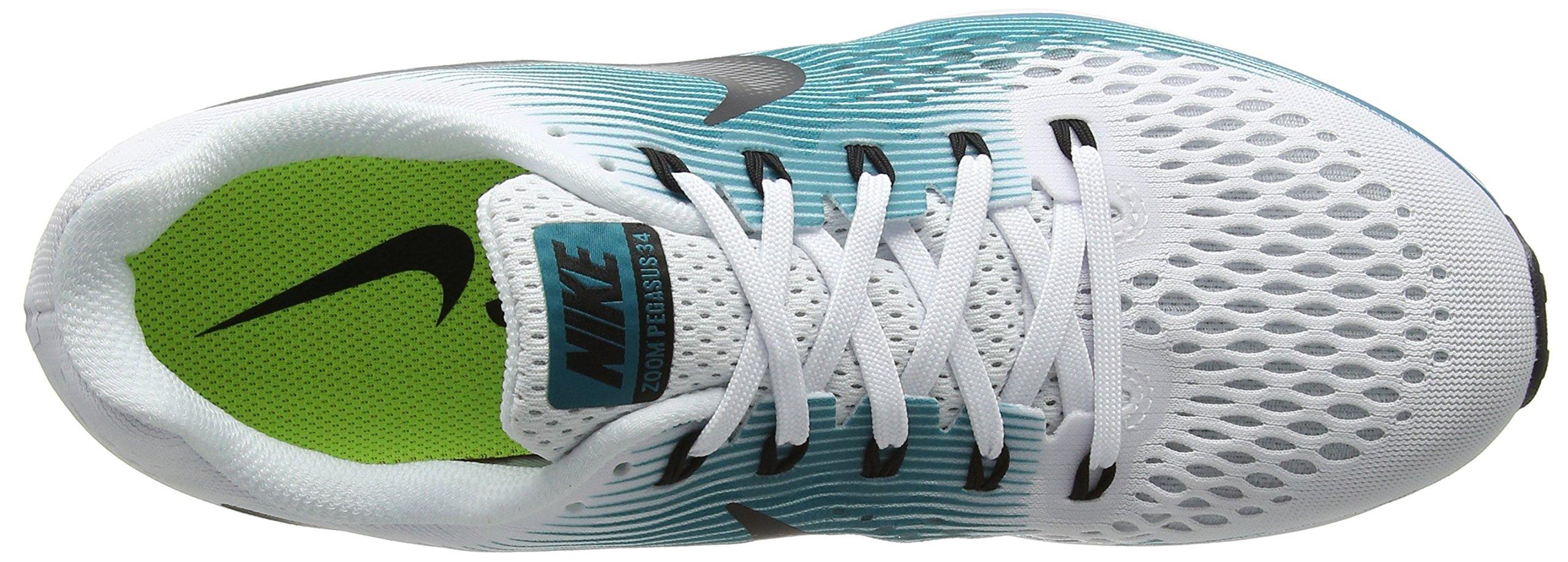 Nike Men's Air Zoom Pegasus 34 White / Black - Blustery 880555-101 (11.5) by NIKE (Image #7)