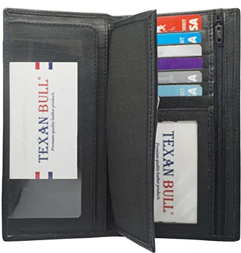 Spirit of America Leather Checkbook Cover