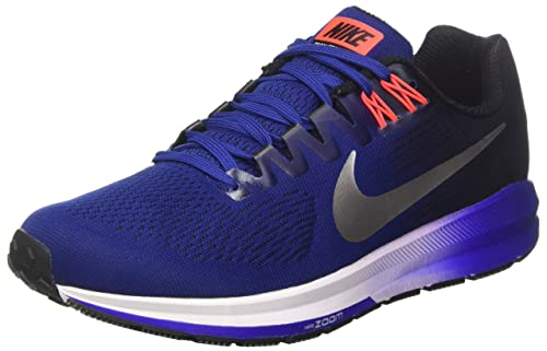 25eb0c36b0fa12 Nike Men s Air Zoom Structure 21 Running Shoe Deep Royal Blue Metallic  Silver Black Size 9.5 M US  Buy Online at Low Prices in India - Amazon.in