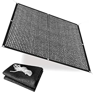 Alion Home 40% Sunblock Shade Cloth with Grommets - UV Resistant Garden Netting - Sun Shade Cover for Garden Patio Plants - Black (10' x 10')