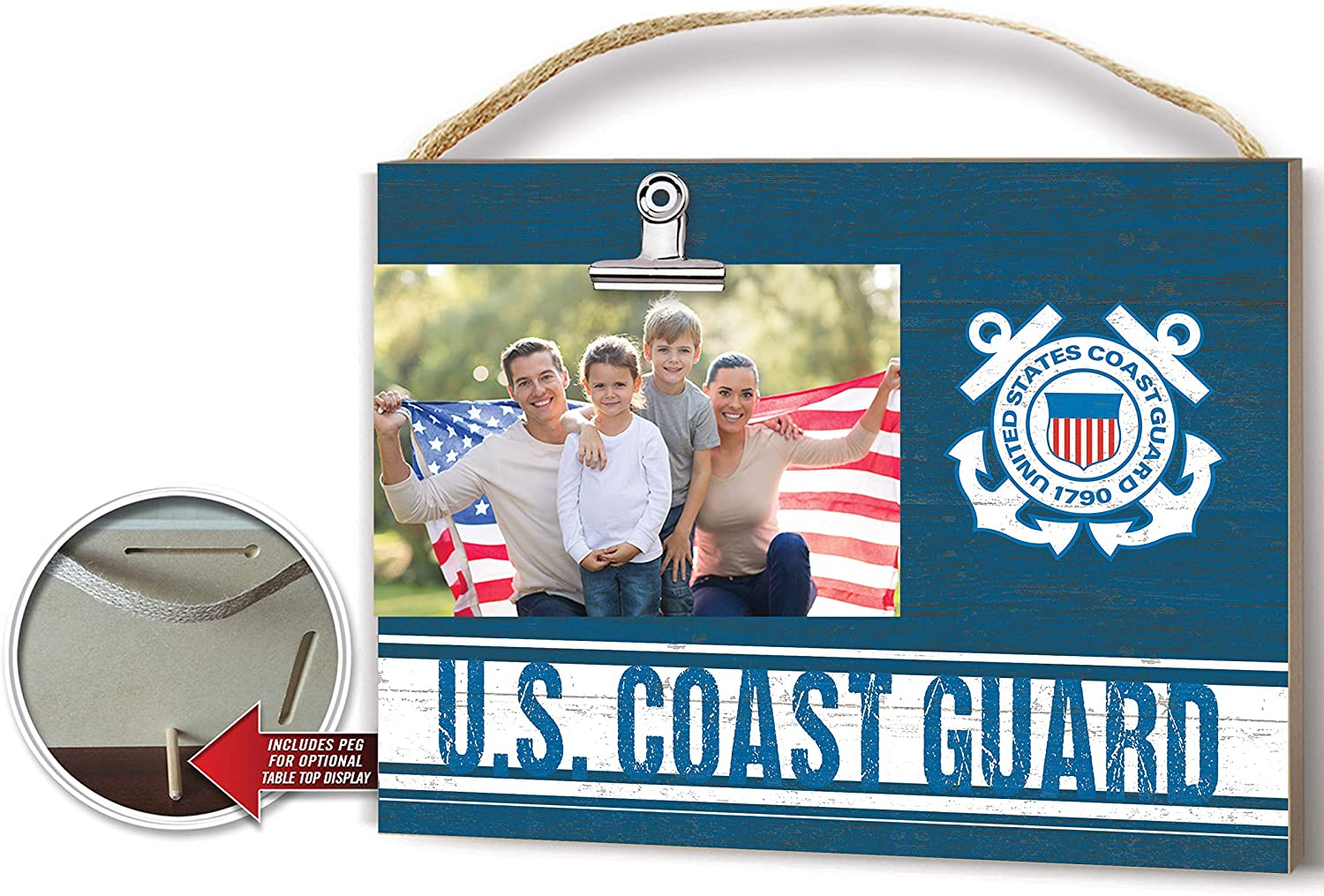 Amazon Com Kh Sports Fan Coast Guard Clip Logo Photo Frame Multi Colored