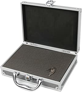 DURAGADGET Silver Aluminium Armoured EVA 'Shell' Storage Case with Fully-Customizable & Shock-Absorbing D.I.Y Foam Interior - Compatible with The MAISI 2K Extreme HD Pro 1296P Car Dash Camera