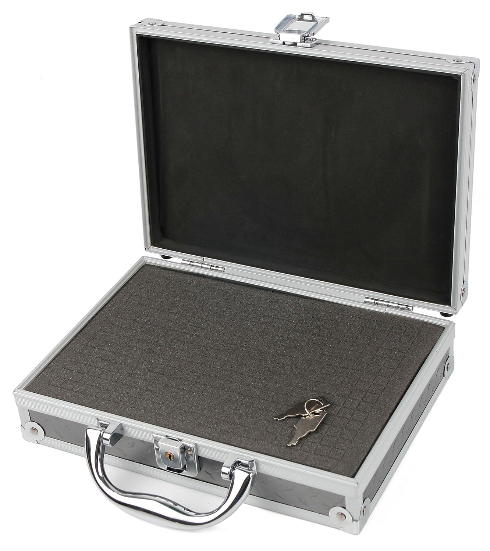 DURAGADGET 保護シルバーアルミニウムケース 衝撃吸収 DIYカスタマイズ可能なフォーム内装 PNJ SD11 | SD14 | SH400 | SV900 | SX60アクションカメラに対応   B01M19F5WK