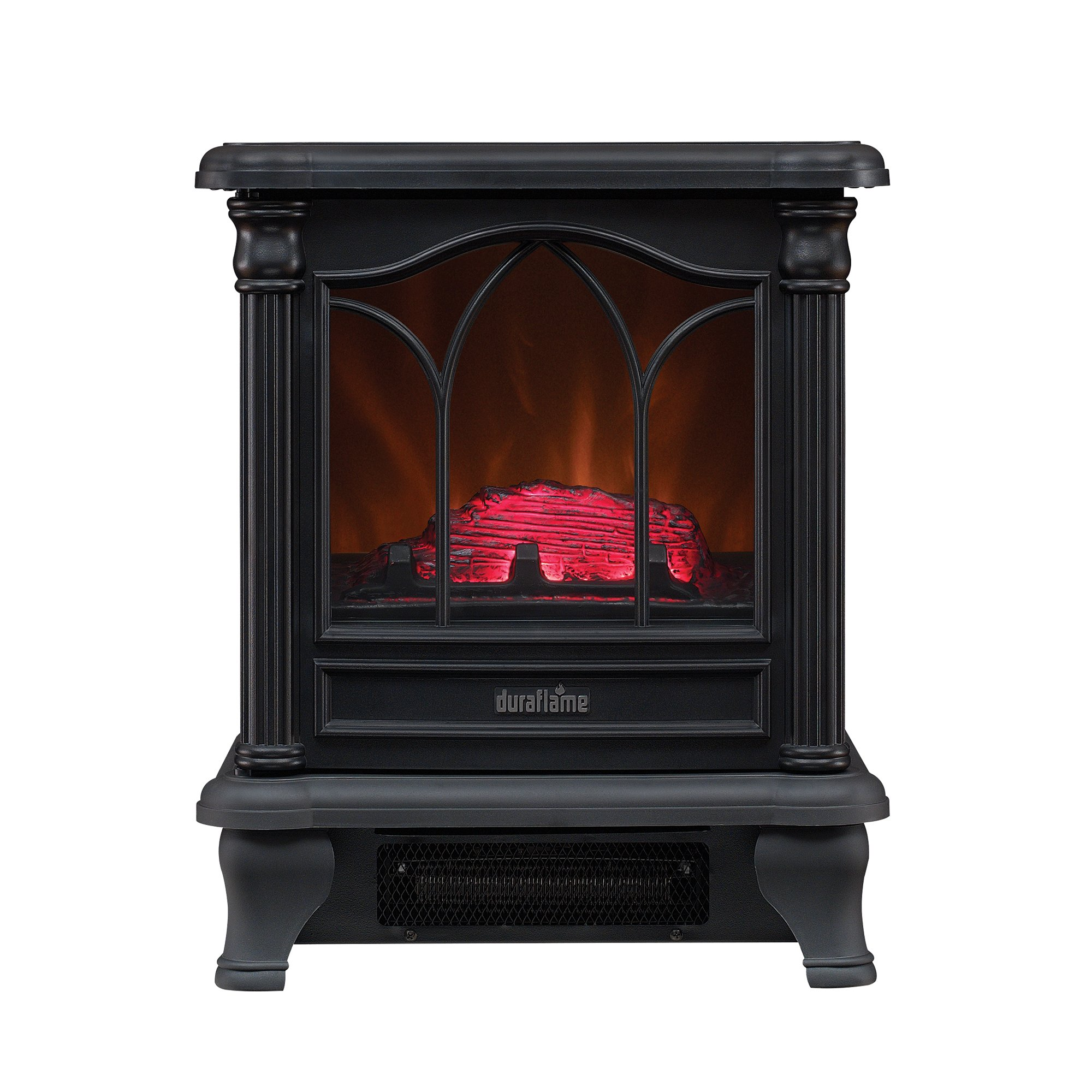 Superior Electric Fireplace Heater Amazon Part - 1: Duraflame DFS-450-2 Carleton Electric Stove With Heater, Black