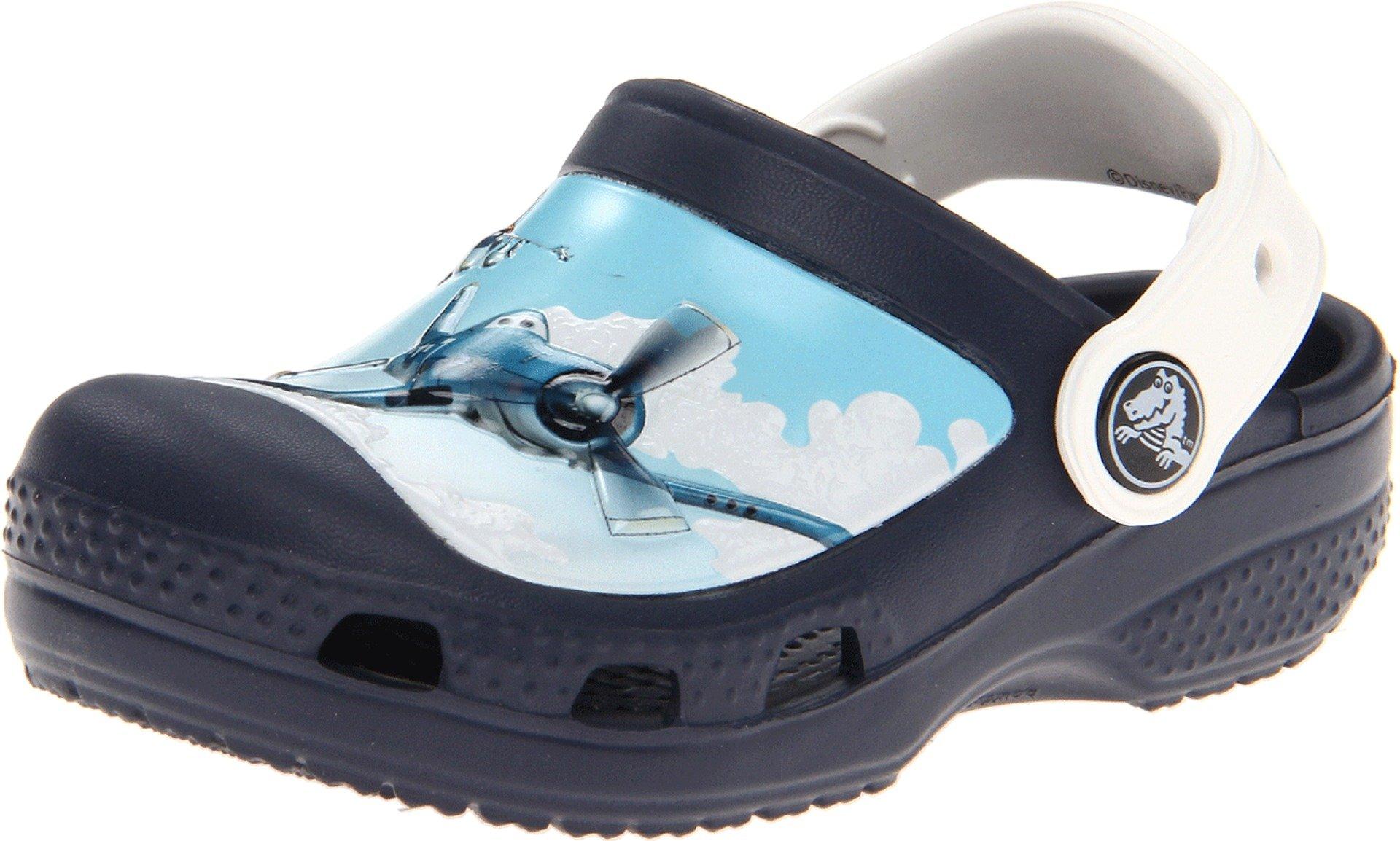 Crocs 15343 CC Planes Clog (Toddler/Little Kid),Navy,4 M US Toddler