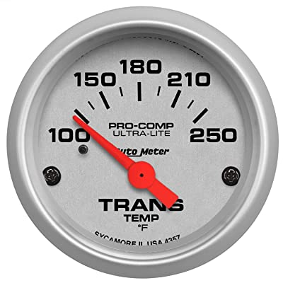 Auto Meter 4357 Ultra-Lite Electric Transmission Temperature Gauge: Automotive