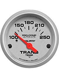 Auto Meter 4357 Ultra-Lite 2-1/16-Inch 100-250 F Short Sweep Electric Transmission Temperature Gauge