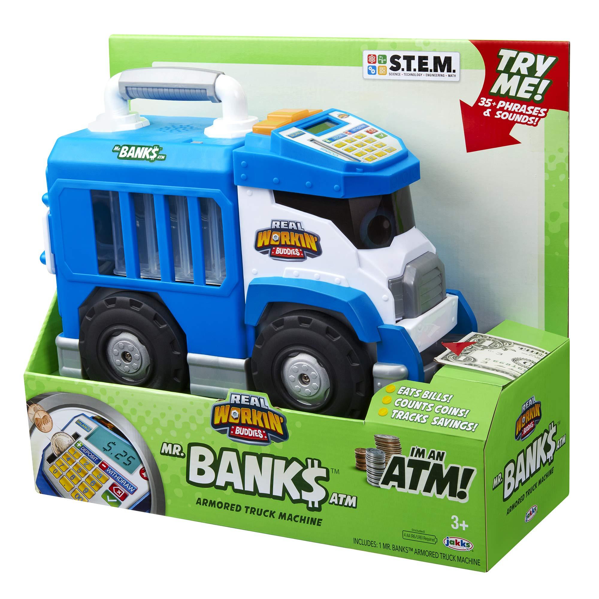 Real Workin' Buddies Mr. Banks, The Super Duper Money Saving Truck Toy Vehicle