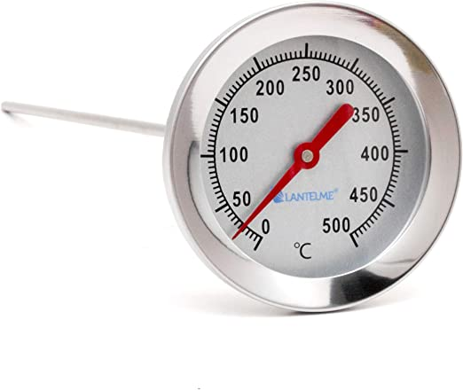 Grillthermometer 30cm Sonde 500°C Grill Smoker Bbq Ofen Thermometer Edelstahl