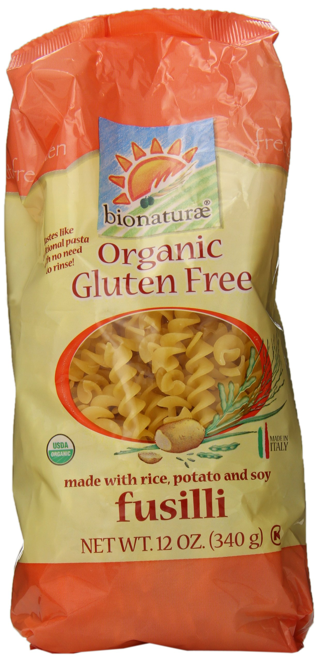 bionaturae Organic Fusilli, Gluten Free, 12 Ounce Bags (Pack of 12) by bionaturae