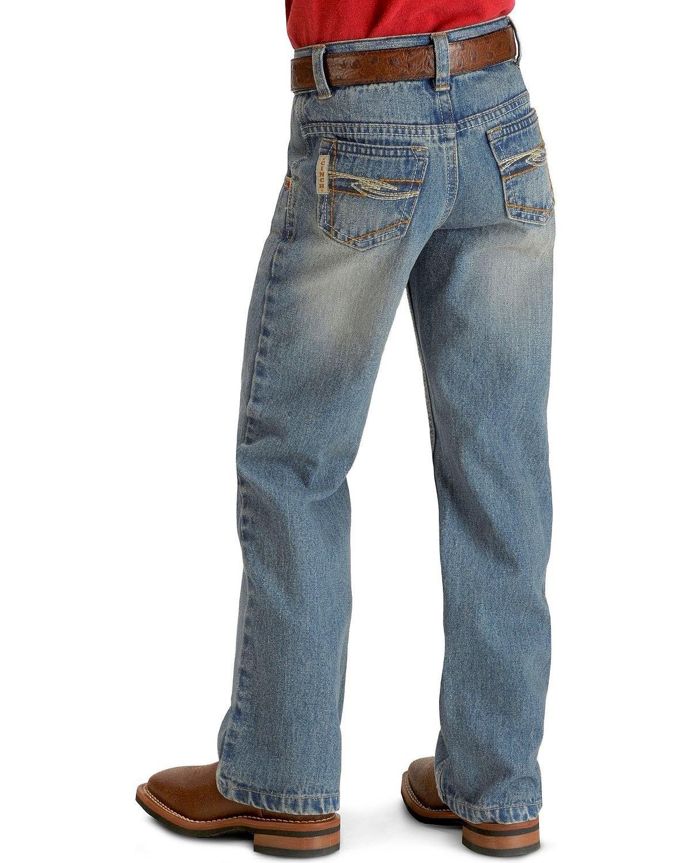 Cinch Boys' Tanner Slim Cut Jeans 8-18 Denim 12