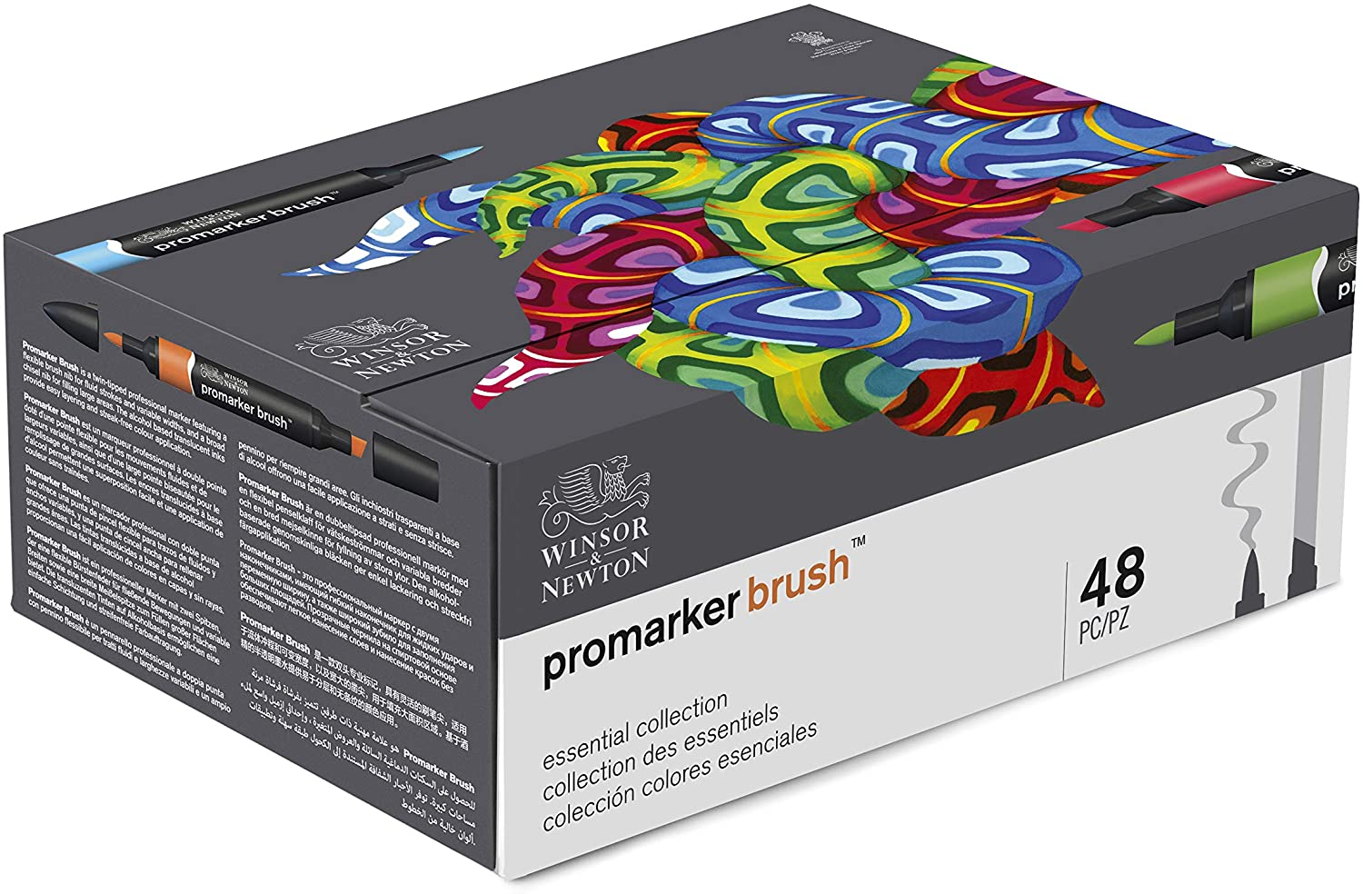 Winsor & Newton Promarker Brush, Set of 48, Essential Collection