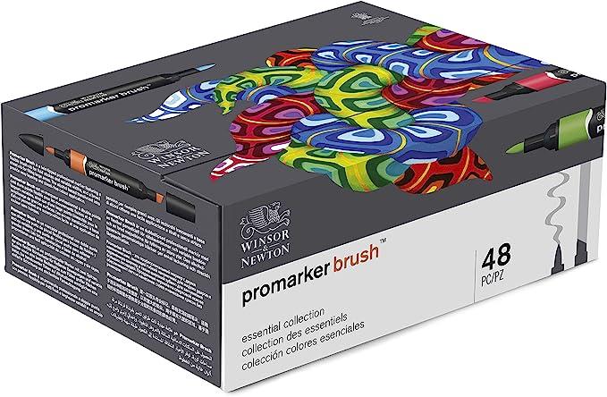 rotulador winsor brush marker 48 colores
