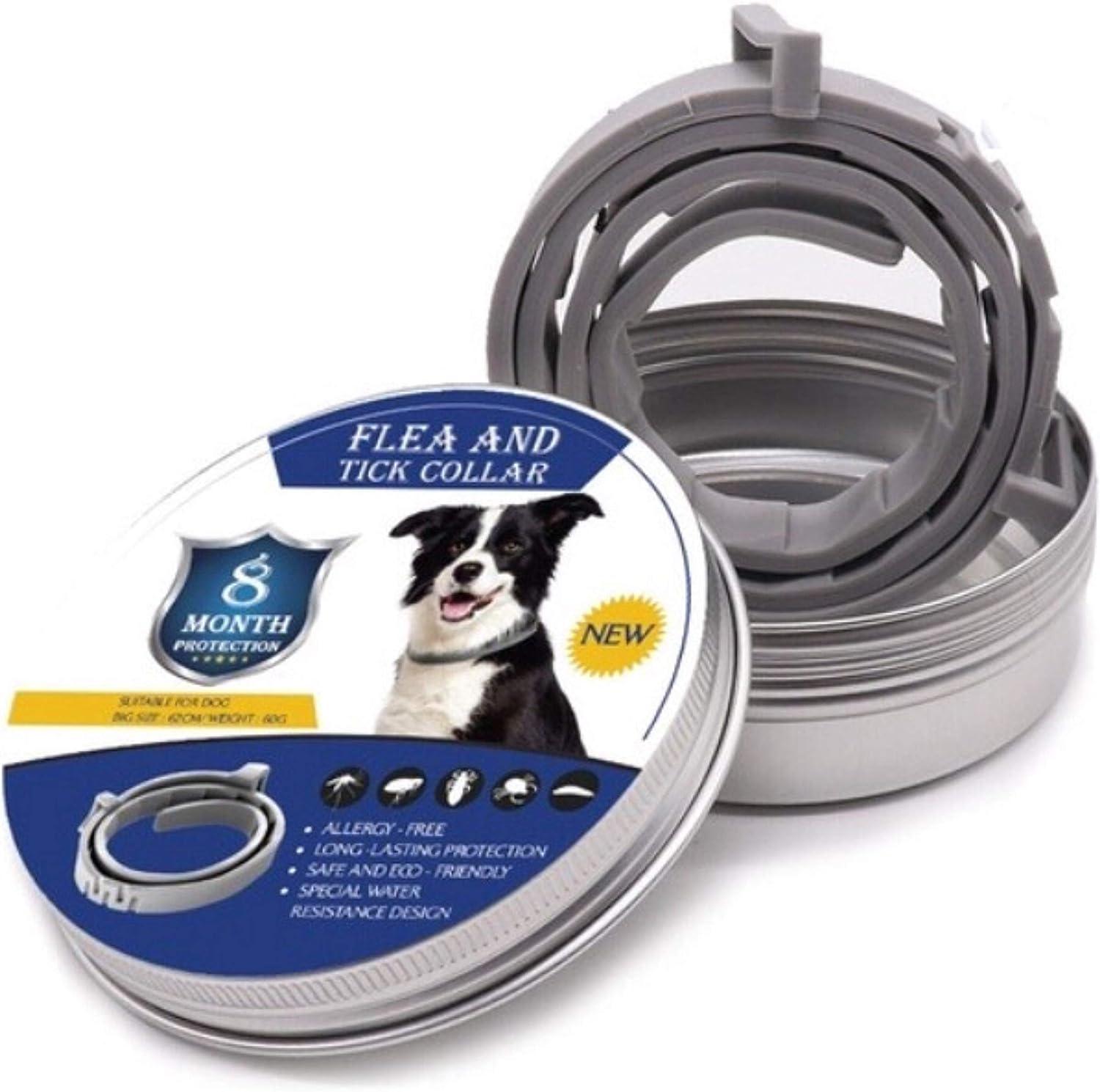 Fallcon Collar Antiparasitos Perros Natural contra Pulgas,Garrapatas y Mosquitos,Tamaño Ajustable e Impermeable para Mascota Pequeño Mediano Grandes
