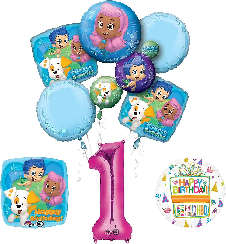 Fantastic Amazon Com Mayflower Bubble Guppies 1St Birthday Party Supplies Funny Birthday Cards Online Hetedamsfinfo