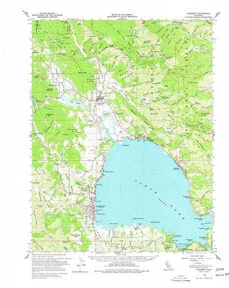 Amazon Com Yellowmaps Lakeport Ca Topo Map 1 62500 Scale 15 X 15