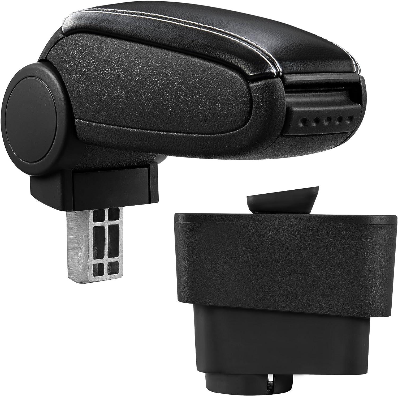 pro.tec Armrest Perfekt Fit Centre Console inkl imitation leather cover // black Storage Box