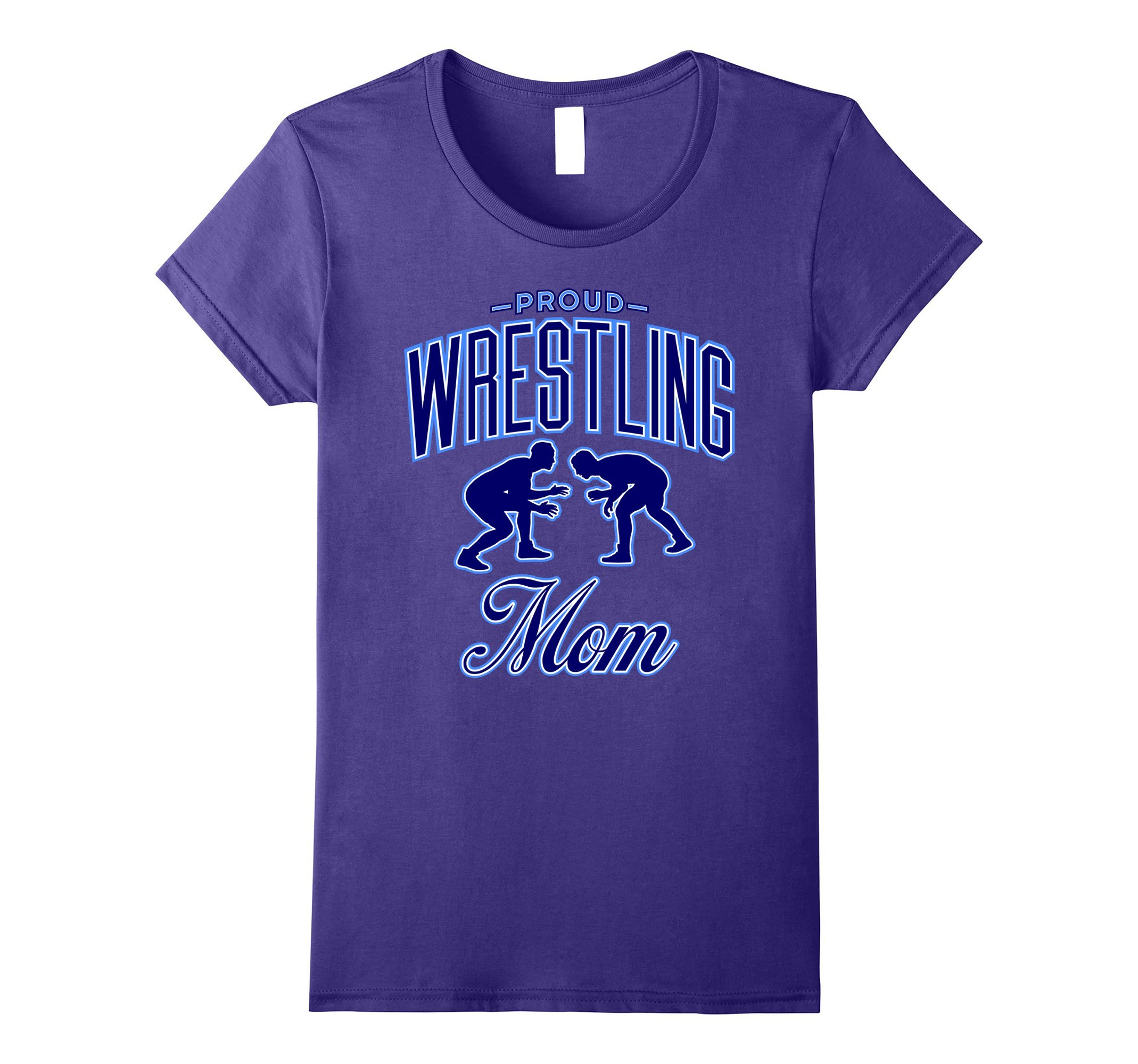 Womens Proud Wrestling Mom Shirts Small Purple by Wrestling by DV8sTees