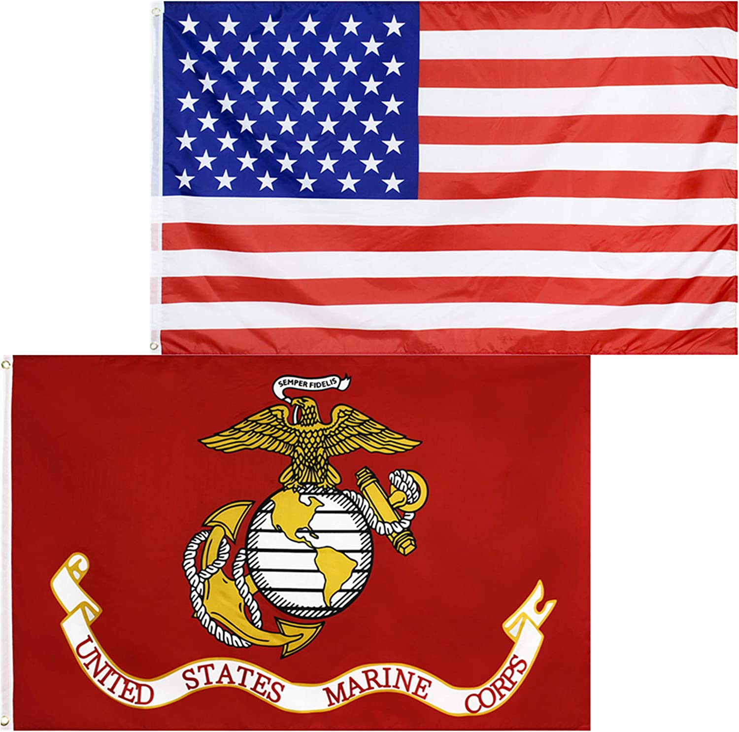 3x5 FT US MADE American Flag and All Military Flags Best Quality *MADE IN USA*